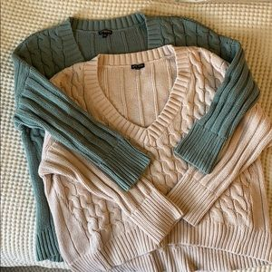 Express chunky-knit sweaters (pair)